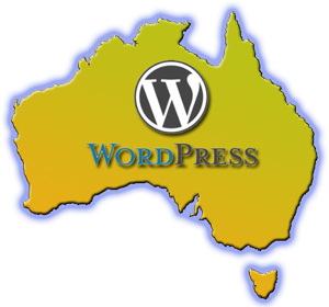Map of Australia with WordPress logo